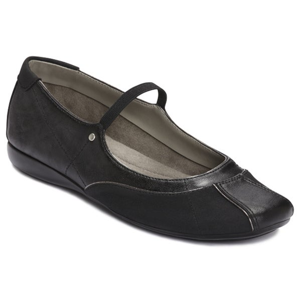 A2 by Aerosoles Women's 'Reprintz' Black Patent Slip-ons