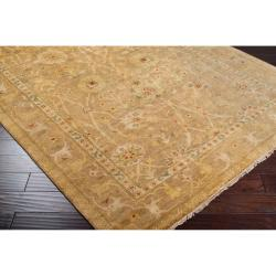 Hand-knotted Light Brown Antolya Semi-Worsted New Zealand Wool Rug (3'9 x 5'9) - Thumbnail 1