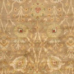 Hand-knotted Light Brown Antolya Semi-Worsted New Zealand Wool Rug (3'9 x 5'9) - Thumbnail 2