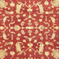 Hand-knotted Red Antolya Semi-Worsted New Zealand Wool Rug (3'9 x 5'9)