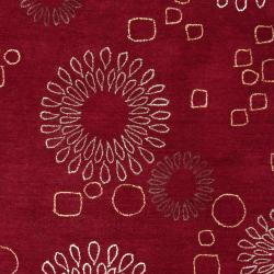 Hand-tufted Red Ameila Rug (3'3 x 5'3)