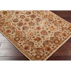 Hand-tufted Tan Adi Semi-Worsted New Zealand Wool Rug (3'3 x 5'3) - Thumbnail 1
