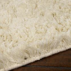 Hand-woven Ivory Anatolian Plush Shag Zealand Wool Rug (3'6 x 5'6)