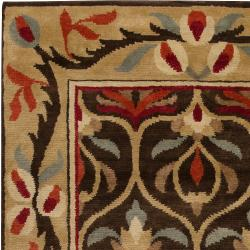 Hand-knotted Multi Colored Floral Argentine New Zealand Wool Rug (8' x 11') - Thumbnail 2