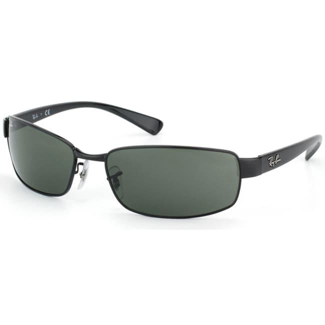 Ray-Ban Unisex RB3364 Shiny Black Metal Fashion Sunglasses