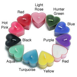 Heart-shaped Tealight Candles (Case of 24)