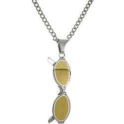 Carolina Glamour Collection Stainless Steel Two-tone Sunglasses Charm Pendant