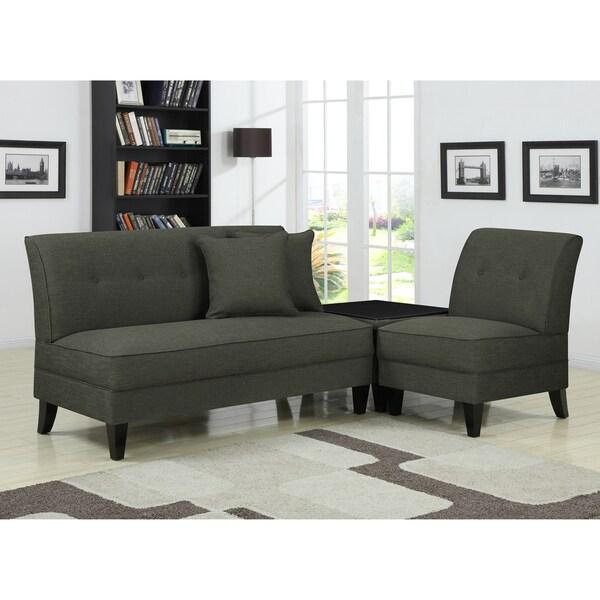 Portfolio Engle Basile Grey Linen 3-piece Sofa Set