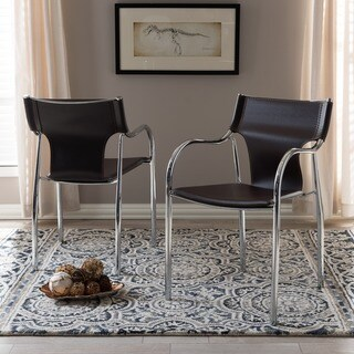 Harris 2-piece Brown Modern Dining Chair Set