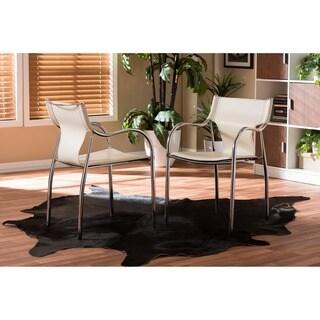 Harris 2-piece Ivory Modern Dining Chair Set
