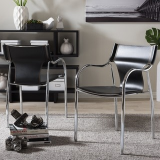 Harris 2-piece Black Modern Dining Chair Set