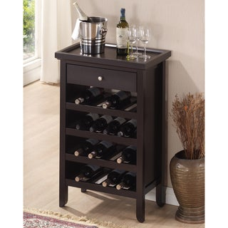 Baxton Studio Aischylos Modern and Contemporary Dark Brown Wood Wine Cabinet