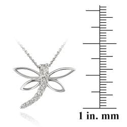 Icz Stonez Sterling Silver Cubic Zirconia Dragonfly Jewelry Set (1 1/2ct TGW) - Thumbnail 1