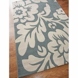 nuLOOM Handmade Pino Slate Floral Rug (6' x 9')