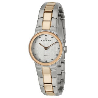 Skagen Women's 430SSRX Two-tone Stainless Steel Crystal Dial Watch