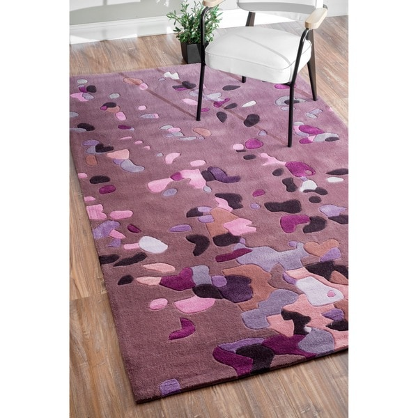 nuLOOM Handmade Pino Purple Celebrations Confetti Burst Rug (8'3 x 11')