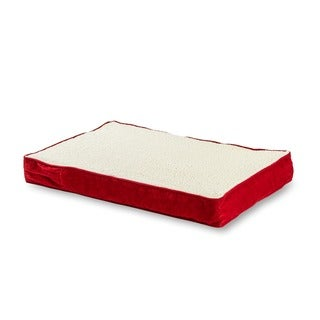 Ozzie Orthopedic Dog Bed Deep Red