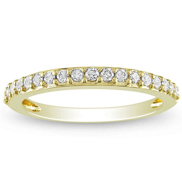 Miadora 14k Yellow Gold 1/4ct TDW Diamond Eternity Band (G-H, I1-I2)