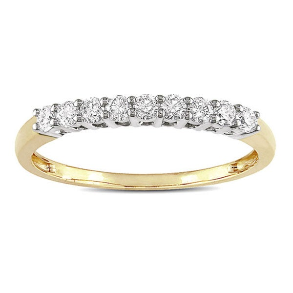 Miadora 14k Yellow Gold 1/4ct TDW Diamond Anniversary Ring (G-H, I1-I2)
