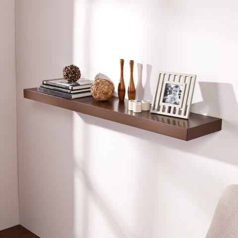 Porch & Den Sorlie 48 inch Espresso Floating Shelf