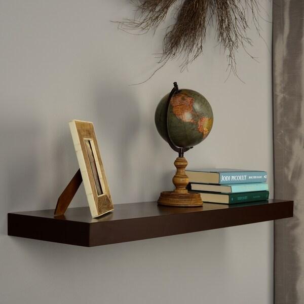 Harper Blvd Tampa 36-inch Espresso Floating Shelf