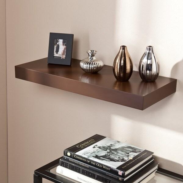 Harper Blvd Tampa 24-inch Espresso Floating Shelf