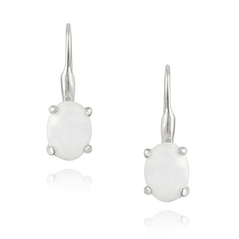 Glitzy Rocks Sterling Silver Mother of Pearl Earrings (2 1/2ct TGW)