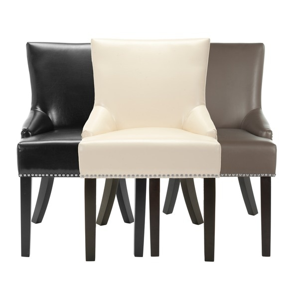 Safavieh Loire Leather Nailhead Dining Chairs Set Of Free
