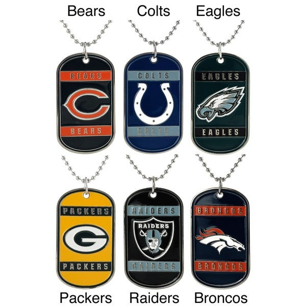 Silvertone National Football League Team Tag Necklace