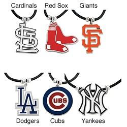 Silvertone Major League Baseball Team Cord Necklace