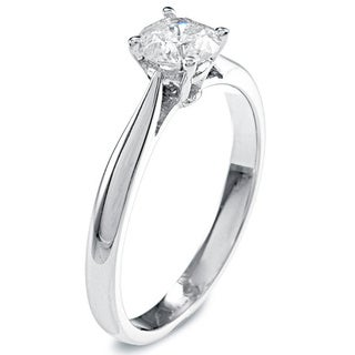 14k Gold 1/2ct TDW Round Solitaire Diamond Engagement Ring
