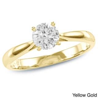 14k Gold 1/2ct TDW Diamond Solitaire Engagement Ring (K-L, I2-I3)