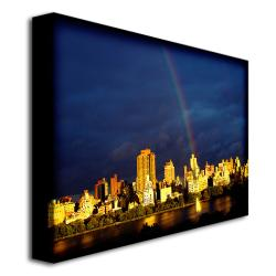 "Ariane Moshayedi 'City Rainbow' Canvas Art (30"" x 47"")"