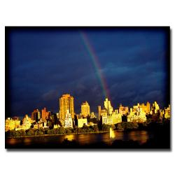 "Ariane Moshayedi 'City Rainbow' Canvas Art (30"" x 47"")"