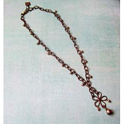Vintage Brass Floral Necklace - Thumbnail 1