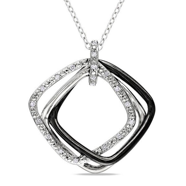Miadora Sterling Silver 1/10ct TDW Diamond Fashion Necklace (H-I, I3)