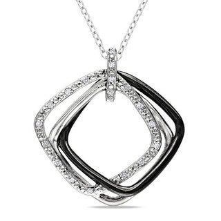 Miadora Sterling Silver 1/10ct TDW Diamond Fashion Necklace