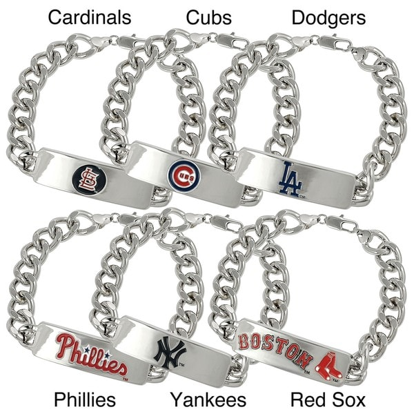 Silvertone Major League Baseball Team ID Bracelet