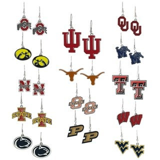 Silvertone NCAA Team Dangle Earrings