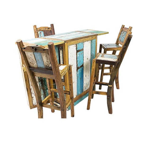 Ecologica Furniture Reclaimed Wood Fold-Away Bar
