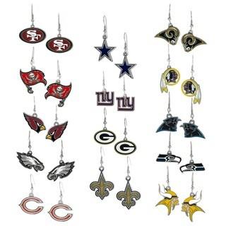 Silvertone National Football League Team Dangle Earrings