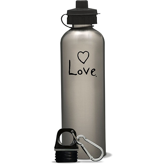 AffirmWater 26-oz 'I am Love' Stainless Steel Water Bottle