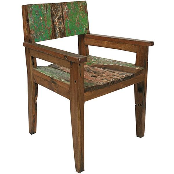 Ecologica Reclaimed Wood Armrest Chair
