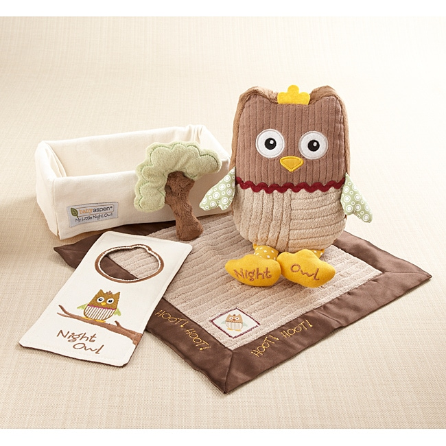Baby Aspen 'My Little Night Owl' 5-piece Gift Set
