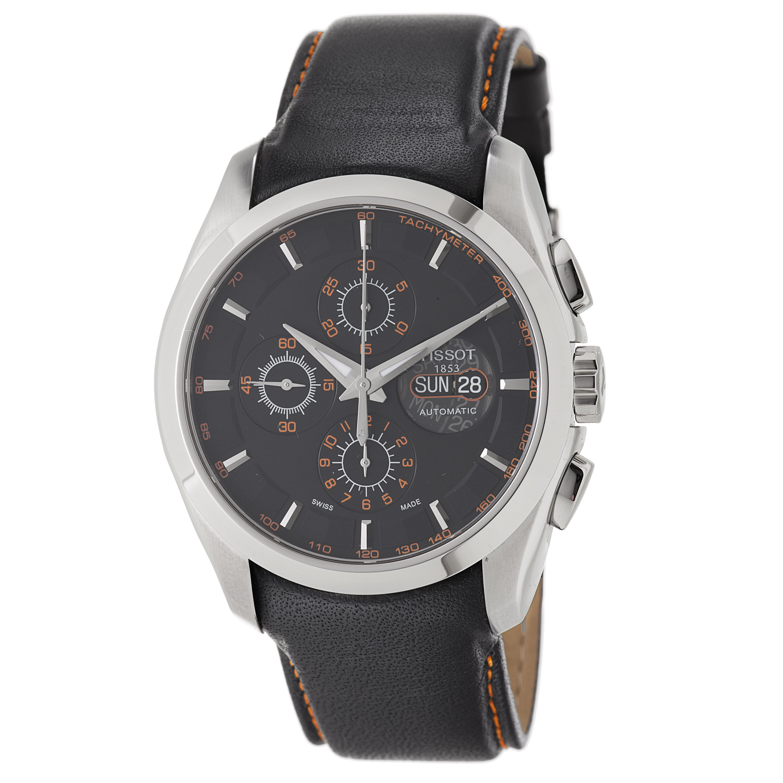 Tissot Men's T035.614.16.051.01 'Couturier' Black Dial Black Leather Strap Watch