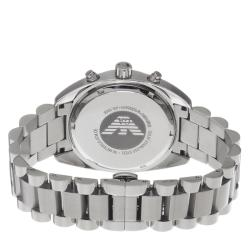 Emporio Armani Men's AR5958 'Sport' Silver Dial Stainless Steel Quartz Watch - Thumbnail 1