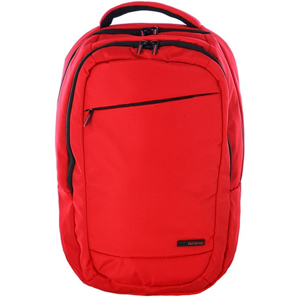 Olympia Boston Red 17.5-inch Deluxe Laptop Backpack