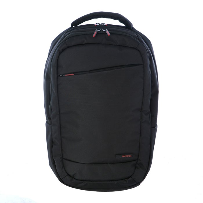 Olympia Boston Black 17.5-inch Supreme-polyester Laptop Backpack