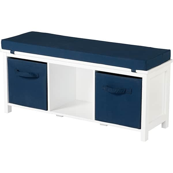 Terrific Storage Bench With Cushions And Storage Bins Beatyapartments Chair Design Images Beatyapartmentscom