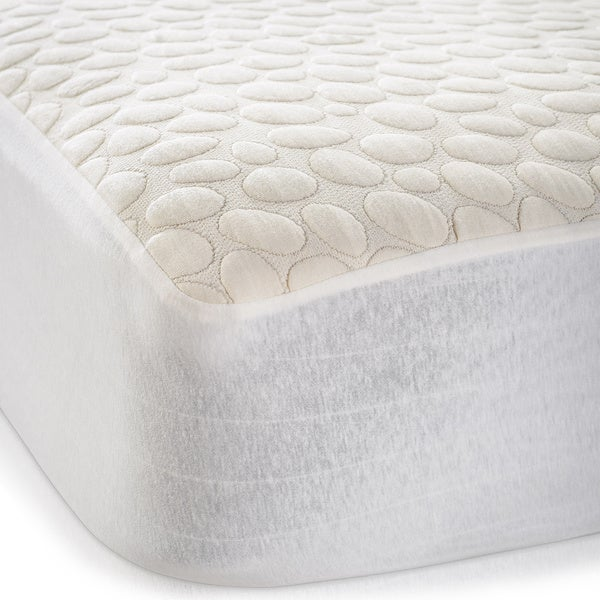 Christopher Knight Home PebbleTex Organic Cotton Waterproof Twin XL-size Mattress Protector